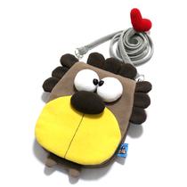 Diagonal plush cute cartoon cell phone bag