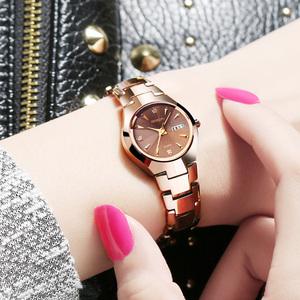 劳士顿正品新款手表女表钨钢防水石英表时尚潮流双日历女士腕表女士手表