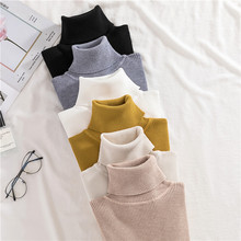 High neck stretch long sleeve all over knit