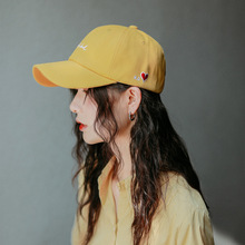 Baseball cap, women's cap, autumn and winter, duck tongue cap, INS, men's Korean version, show small face, mix with street trend, embroidered letter, student hat