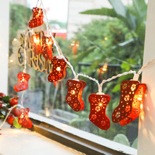 Christmas socks decorative lights, colorful lights, flashing lights, Christmas bedrooms, rooms, decorated with household Christmas Tree LED lights