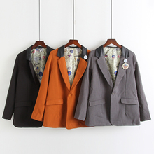 Spring and autumn Korean Lapel slim suit