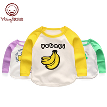 Youbaiyi Children's T-shirt, Long-sleeved Cotton Girls'Bottom Blouse, Spring and Autumn Boys' T-shirt and Baby's Autumn Clothes