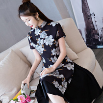 Long girls dress 2017 new style fashion cultivate ones morality in Chinese cheongsam retro daily authentic Vietnamese ao dai