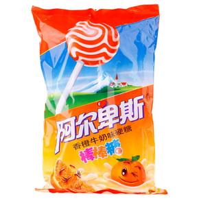 小朋友最爱 休闲零食喜糖果 阿尔卑斯牛奶棒棒糖 整袋20支包邮 TX