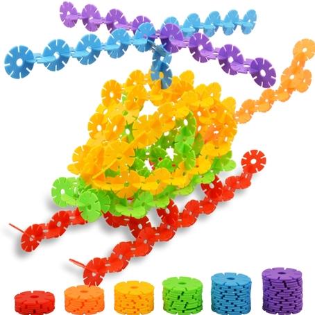 儿童加厚雪花片积木玩具 益智拼装拼插 宝宝早教创意玩具 正品