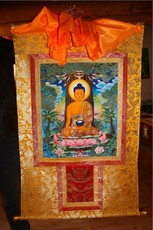 Тханка Traditional Thangka Tibet type mounting