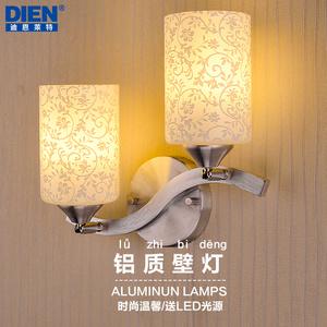 现代简约led双头壁灯卧室床头灯客厅灯具餐厅温馨过道走廊创意灯壁灯