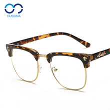 Eyeglass frame, eyeglass frame, female fashion, Korean retro round frame, eye flat mirror, male can be equipped with finished nearsighted glasses 5953