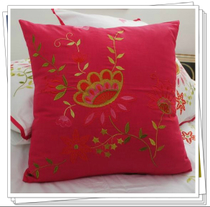 Special foreign trade brand bedding pink red cotton Embroidered Pillow hug pillowcase 50*50CM Butterfly fly fly