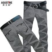 Argus 2014 otoño nueva pantalones casuales pantalones de mezclilla tramo equipado pies de los hombres adelgazan la versión coreana de la afluencia de hombres Pantalones