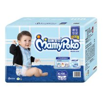 (CAT supermarket) Mommy baby instantaneous absorption and dry not wet diaper XL108 12~17kg male urine