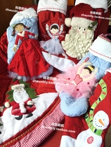 Foreign trade advanced quilted Christmas stockings Christmas Gifts Christmas decorations Christmas tree skirts