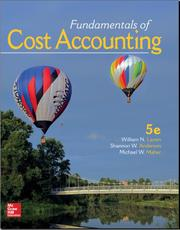 Fundamentals Of Cost Accounting 5th Solution