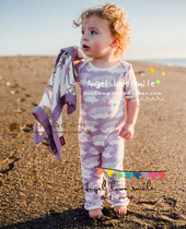 United States top short sleeve one-piece trousers baby dress