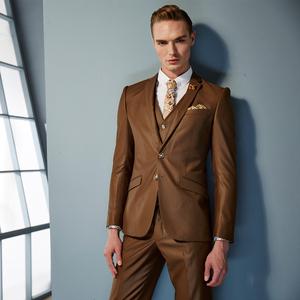 罗宾法派特绅士礼服2016高级定制新品男士温婉深咖色西服礼服801西装定制