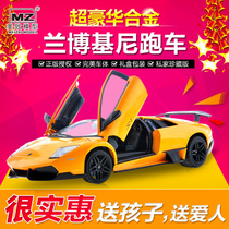 MZ American cars simulation cars of Lamborghini model induced by 1:24 alloy RC toy car racing models