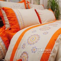 Foreign cotton original quality cotton embroidered duvet cover four-piece 1.5 meters bed 1.8 m bed season of love