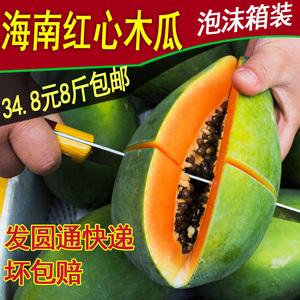 海南红心木瓜包邮 新鲜水果 三亚特产夏威夷现摘新鲜番青木瓜8斤木瓜水果