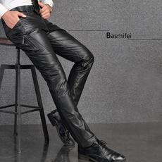 Кожаные брюки Basmifei T8