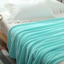 US Court accord thick solid color flannel blanket coral fleece blanket big dimension linen sofa blanket antistatic