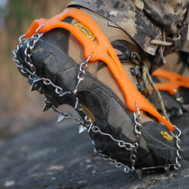 Genuine crampons stainless steel 12 teeth anti-skid shoe covers outdoor climbing crampons crampons snow welded chain