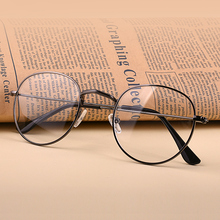 Artistic round metal eyeglasses frame myopia glasses female products retro flat mirror male and Korean version tide can be equipped with anti radiation