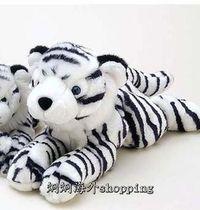 """15""""���ϻ�ë�që�q�������  15"""" White Tiger Plush Stuffed An"""