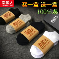Antarctic mens cotton low summer thin anti-odor socks