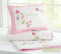American p embroidered flower embroidery hand quilting is that children be surrounded by bed guardrail crash cushion pillow case