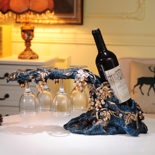 European style red wine rack furnishings, home furnishings, wine cabinet decoration, creative wedding gifts, new house gifts