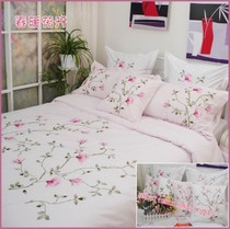 Foreign trade brand fresh and embroidered cotton bedding duvet cover four-piece 1.5 1.8 beds of spring