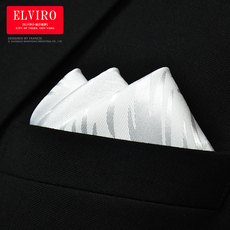 Pocket handkerchief Elviro white