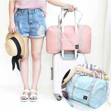 Portable folding clothes storage bag, women's suitcase, shoulder bag, large capacity labor bag