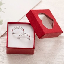 Couple ring a pair of men's and women's adjustable proposal wedding gift simulation diamond ring pair