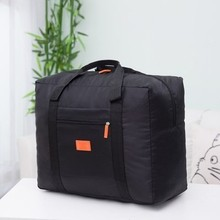 Waterproof folding portable bags Korean version of large capacity baggage packing bag pull rod travel short-distance men's and women's handbags