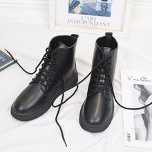 British style 2019 new net red autumn black Plush Martin boots