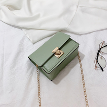 High level foreign style small bag women 2019 new fashion leisure Single Shoulder Messenger Bag Korean chain small square bag