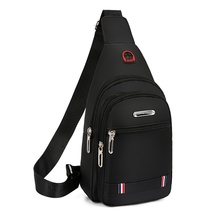 New style men's bags with one shoulder inclined bag recreational straddle bags Oxford cloth front inclined backpack damp little men's bags