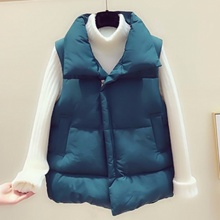 New plump mm down cotton jacket loose waistcoat