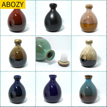 Capacity of wine container empty bottle with lid bulk sealed ceramic wine bottle empty bottle with a jin of wine jar