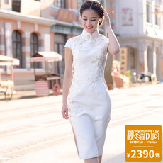 Cheongsam dress Unparalleled beauty Flower Lady