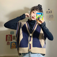 New Korean cardigan with knitted vest