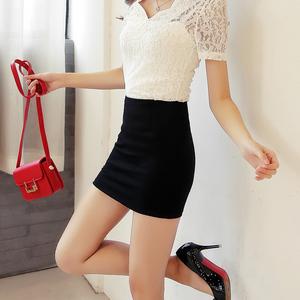 黑色包臀裙夏季工作裙百搭半身裙子一步裙弹力短裙女夏职业包裙半身裙
