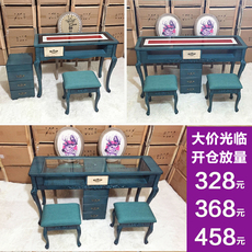 Стол для маникюра 新款欧式复古面美甲台美甲桌椅套装单人双人三人美甲店桌美甲凳子