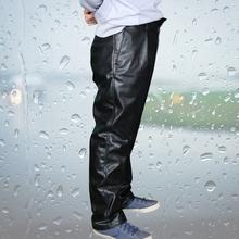 Labor protection suit Waterproof Black Leather Pants