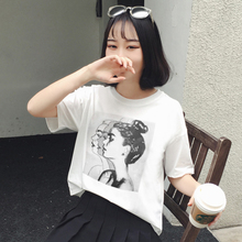 2019 new short sleeve T-shirt women's summer loose Hanfan ins half sleeve blouse women's junior high school students' all-around student clothes