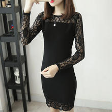 Lace long sleeve patchwork bottom