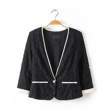 One button for the new lace seven sleeve Blazer