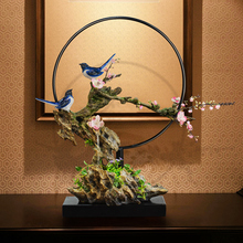 Rockery, water fountain, opening, creative gifts, living room, balcony, TV cabinet, soft decoration, Zen decoration.